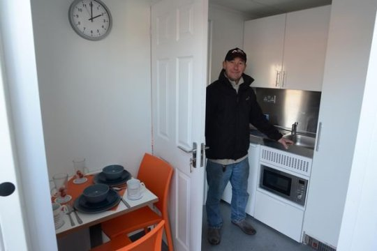 kitchen in shipping container