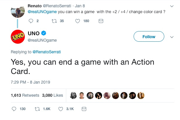 you can win uno with an action card