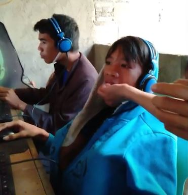 Mum hand feeds son who refuses to stop playing video games