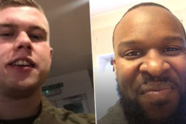 Army and comedian become best friends