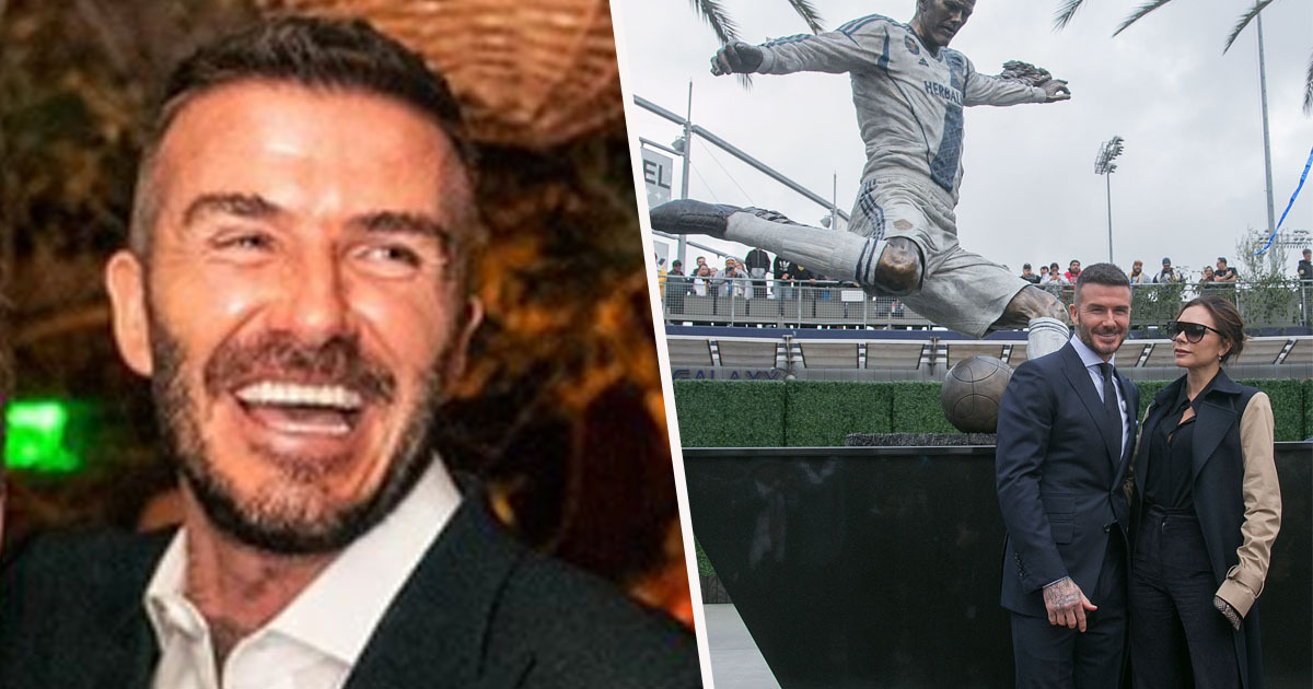 David Beckham statue unveiled