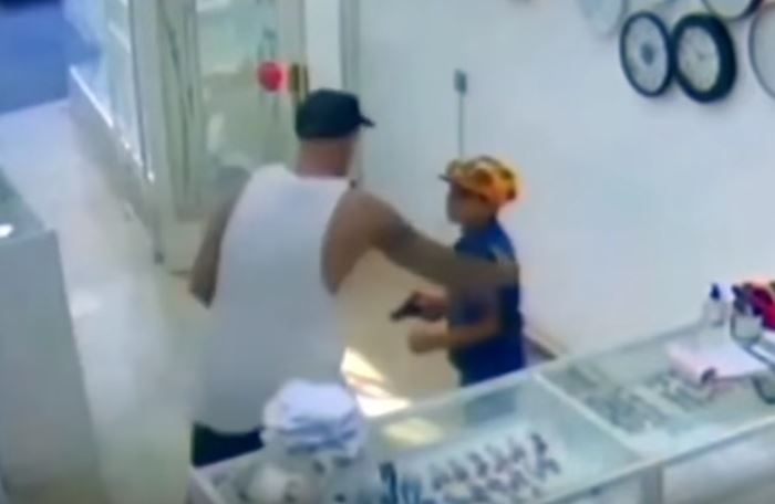 Boy tries to rob store with toy gun