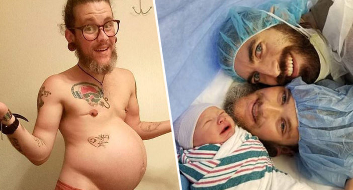 Transgender man gives birth