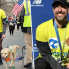 Blind Runner Makes History By Finishing Marathon With Guide Dogs