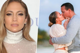 J Lo shares engagement pictures