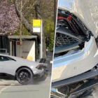 Lamborghini Driver Smashes Car Into Wall Showing Off To Crowd