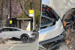 Driver crashes £215,000 Lamborghini