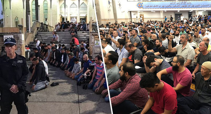 Muslims gather to pray for those killed in attack