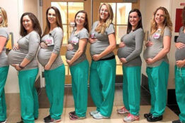 Nine nurses all pregnant at the same time