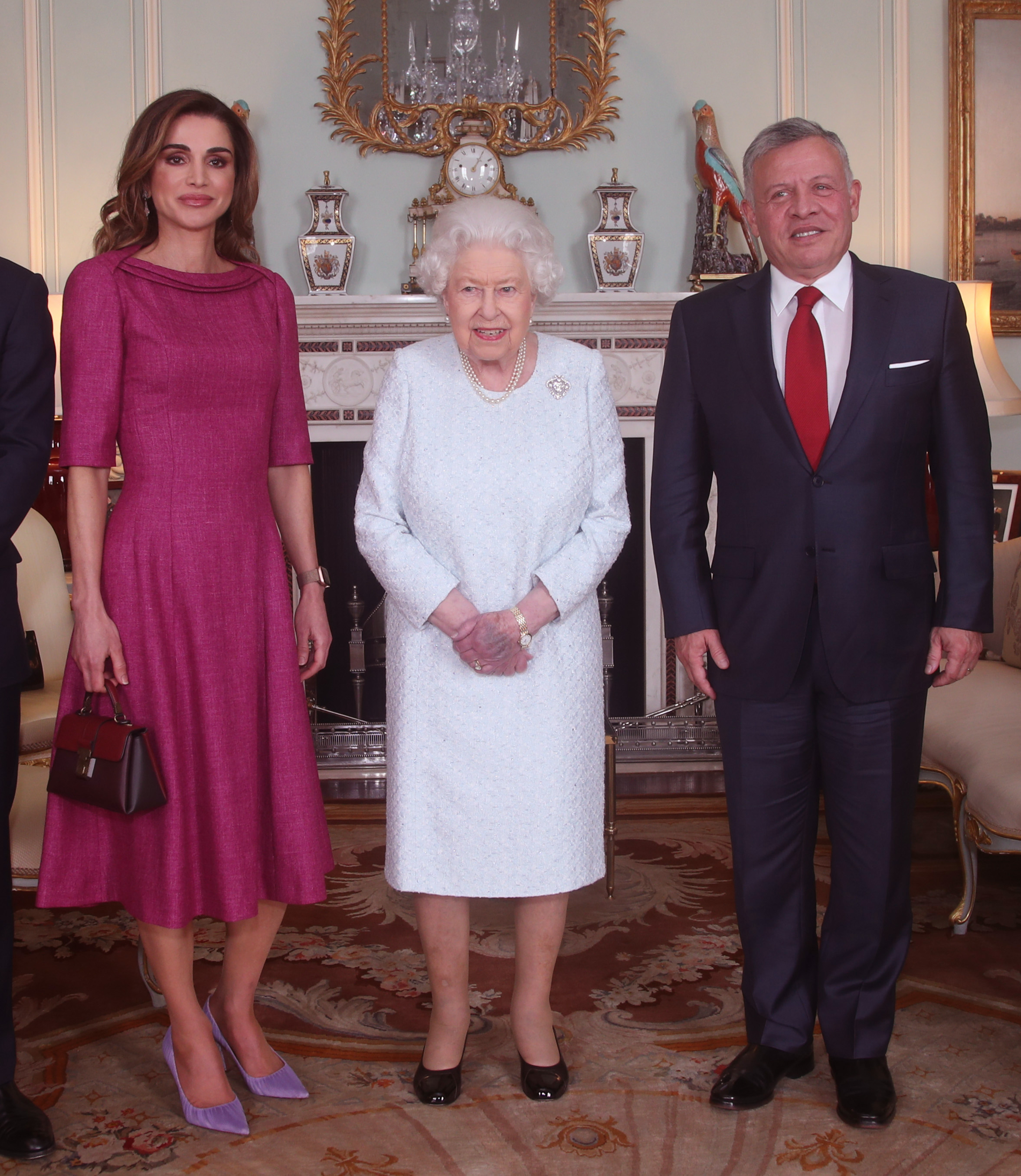 Queen Elizabeth II with Queen Rania of Jordan