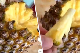 Correct way to eat a pineapple