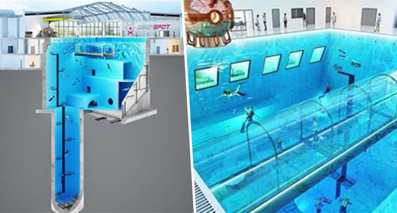 World 39 s deepest swimming pool is opening in poland - How deep is the average swimming pool ...