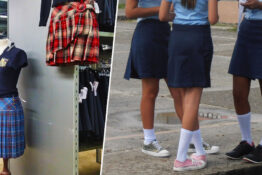 Girls being forced to wear skirts is in violation of the constitution.