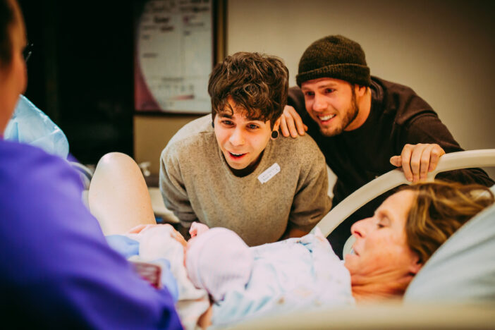 Woman volunteers to be her son's surrogate.