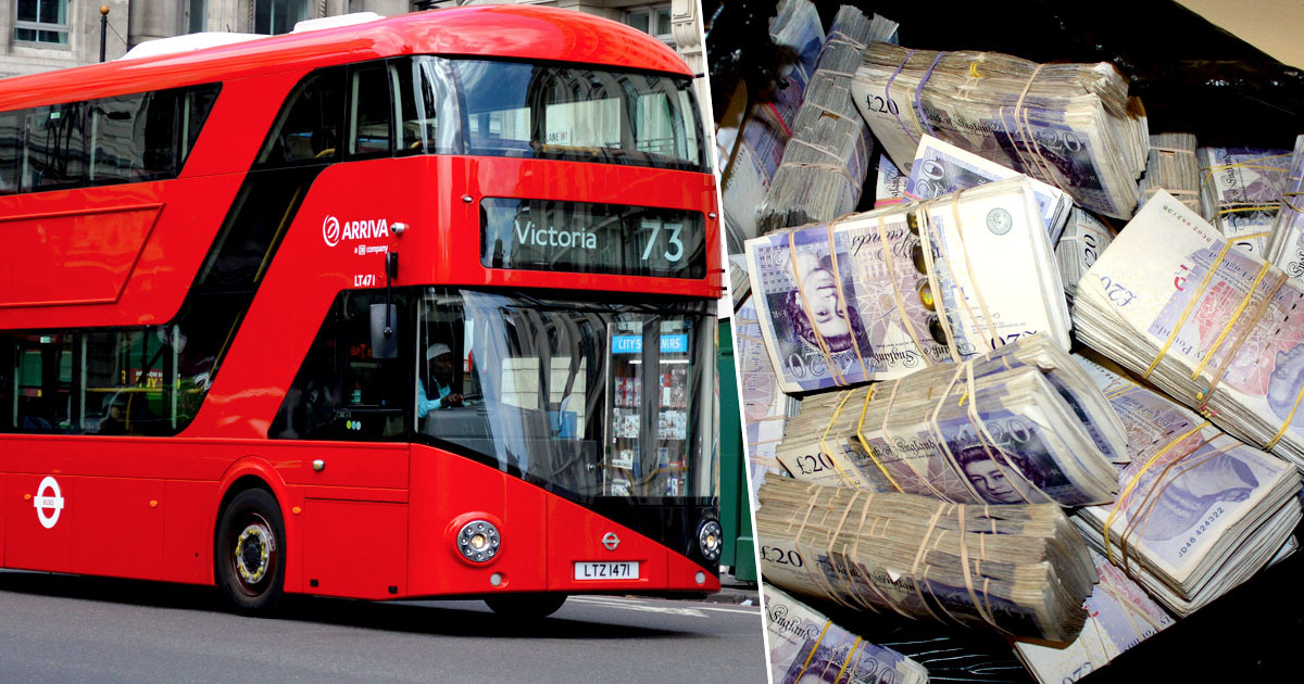 Worker finds £300,000 on bus