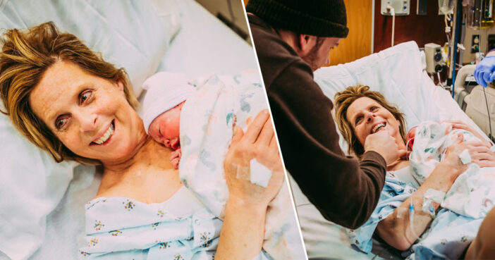Grandma gives birth to granddaughter.