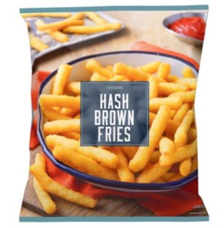 Hash brown fries from Iceland