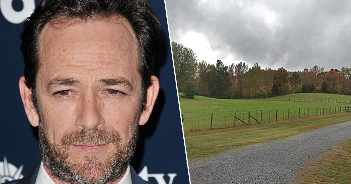 Luke Perry's ashes scattered on his farm