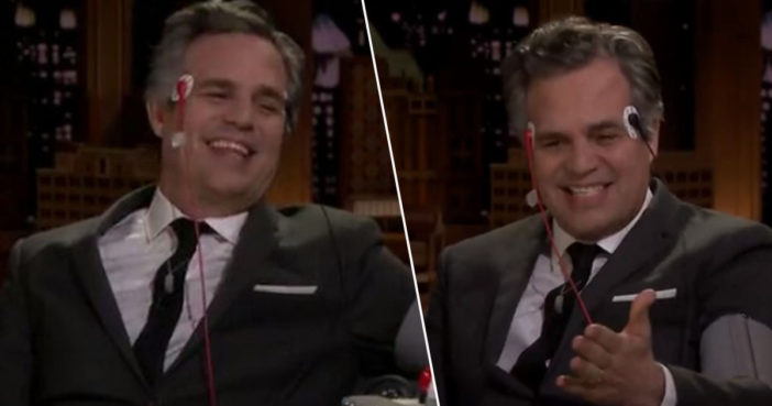 Mark Ruffalo undergoes lie detector test.