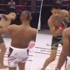 MMA Fighter Dislocates Shoulder After Spinning Kick Goes Very Wrong