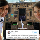 Delta Passenger Shares Photo Of Mother Daughter Pilot Team