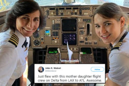 Mother daughter flight crew