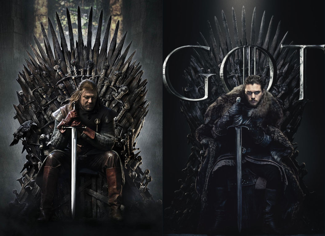 ned stark jon snow iron throne GoT