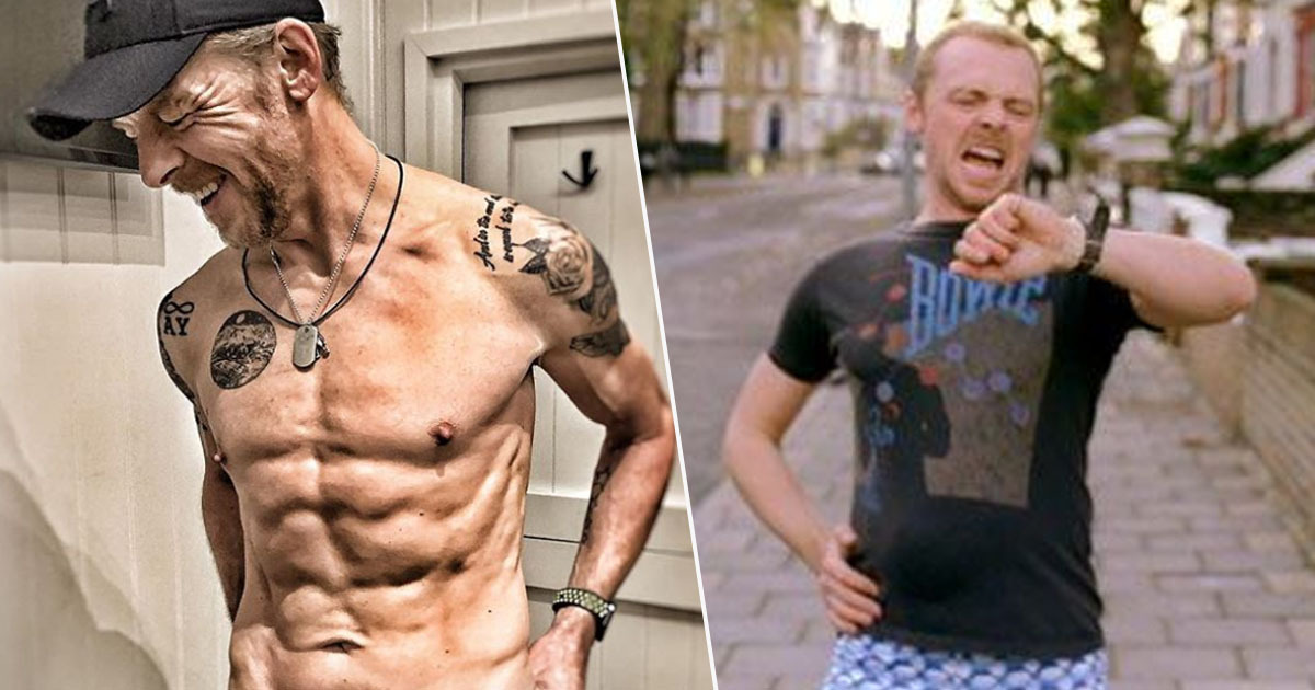 Simon Pegg is ripped