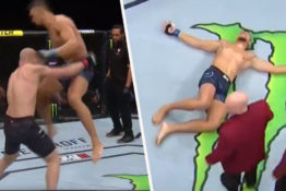 UFC fighter dislocates shoulder while celebrating