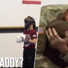 Soldier Dad Surprises Blindfolded Son In Tear-Jerking Video