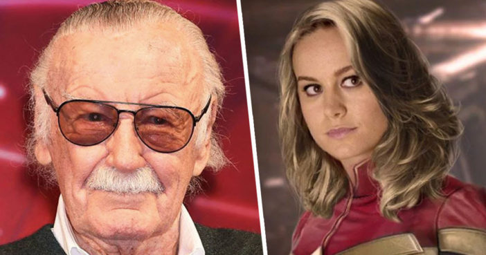 Captain Marvel gives tribute to Stan Lee.