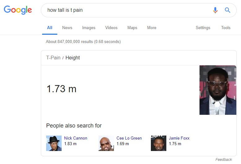 how tall is t-pain
