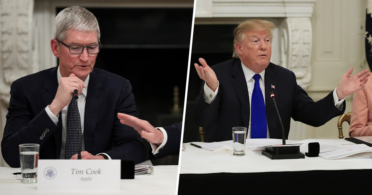 Donald Trump Apple Tim Cook