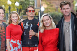Avengers cast gather at Disneyland for charity