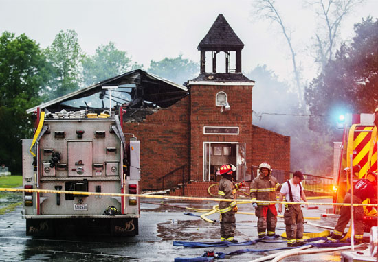 Churches burnt down arson