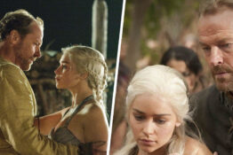 ser jorah mormont and daenerys targaryen in Game of Thrones