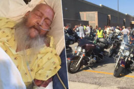 Bikers grant dying mans wish