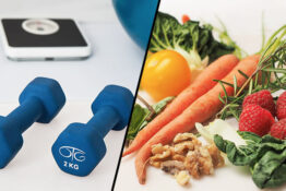 Gym equipment healthy food