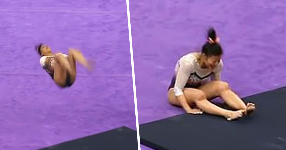Gymnast breaks both legs