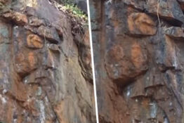 Woman claims to have found jesus's face in rocks
