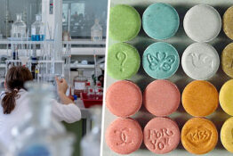 MDMA getting made in laboratory