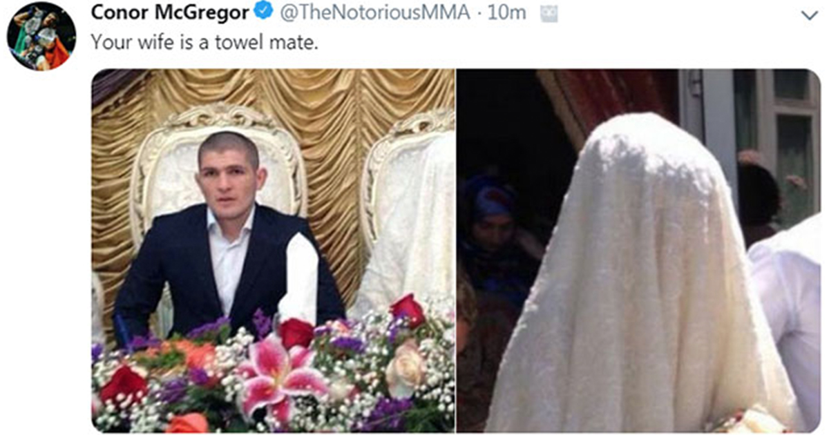 Conor McGregor insults khabib wife