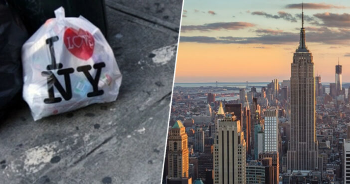 New York brings in plastic bags ban.