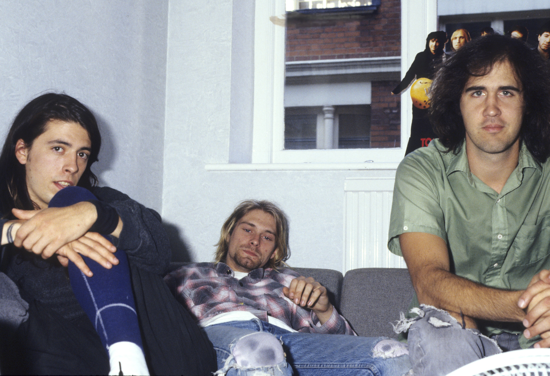 Dave Grohl, Kurt Cobain and Krist Novoselic