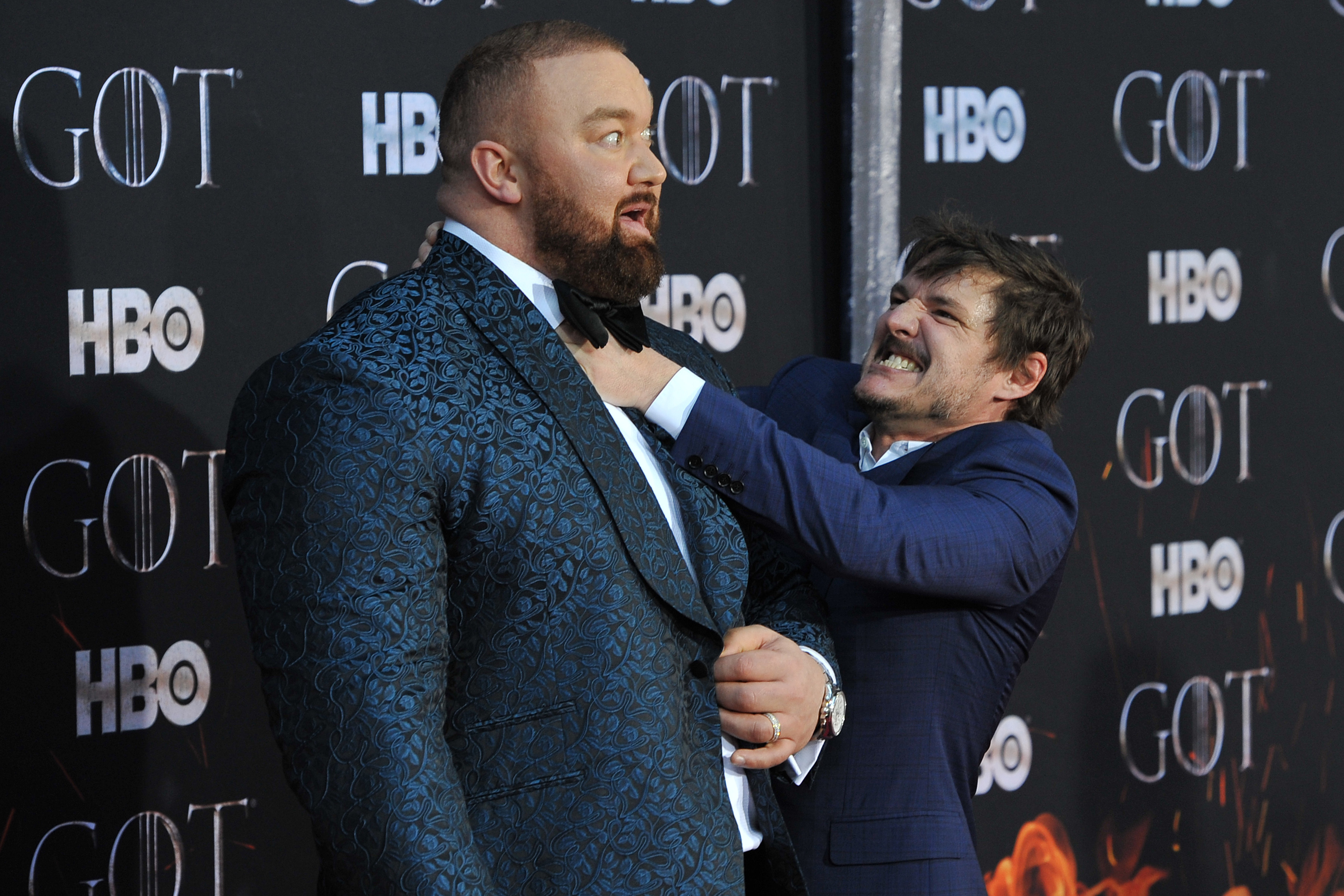 The Mountain and Prince Oberyn at Game of Thrones premiere
