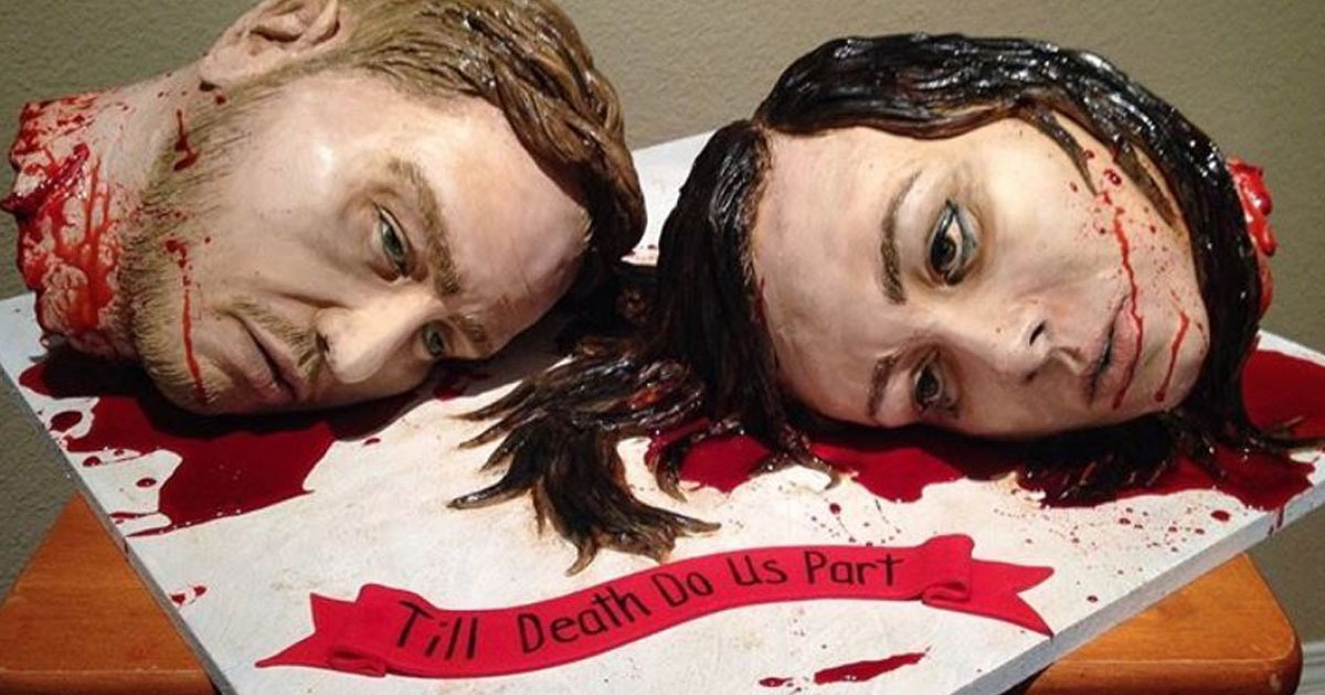 Couple have gruesome wedding cake