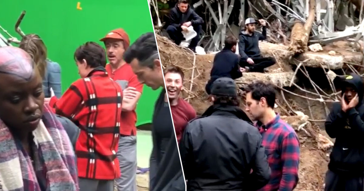 Chris Pratt shares video from Endgame set