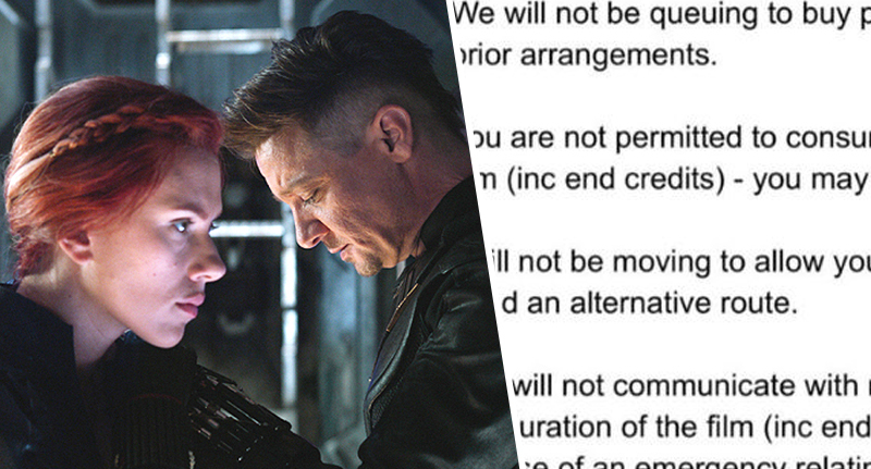 avengers/rules for watching avengers