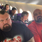 Two World's Strongest Men Seated Next To Each Other On Plane
