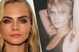 Cara Delevingne shows off armpit wigs